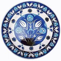 Pomegranate and Tulip Plate by Iznik Revivals
