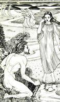 Odysseus & Nausicaa by John Buckland-Wright