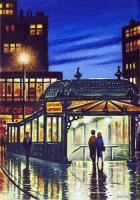 Astor Place Subway by John  Duffin