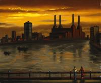 Dark River (Battersea Power Station from Vauxhall Bridge by John  Duffin