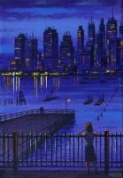 Downtown from Brooklyn Heights by John  Duffin