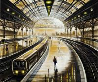 Station Reflections - Lone Traveller by John  Duffin