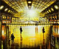 Station Reflections - Sundown by John  Duffin