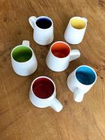 Rainbow Espresso Cup  by Justine  Jenner