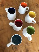 Rainbow Tall Mug  by Justine  Jenner