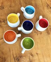 Rainbow Wide Mug  by Justine  Jenner