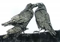 Crow Disturbs the Ravens by Julia Manning RE
