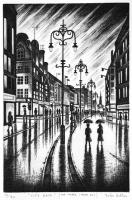 City Rain (Strand London WC2) by John  Duffin