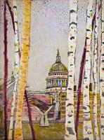 A Glimpse of St Pauls by Karen Keogh RE