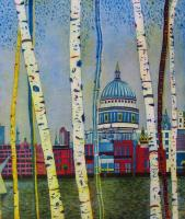 St Pauls by Twilight by Karen Keogh RE