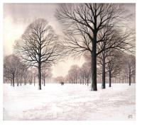 Snow in the Park by Kathleen Caddick