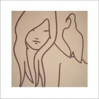 Girl with Bird by Lucie Bennett