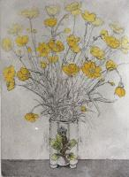 Buttercups in Vase  by Mary Cossey
