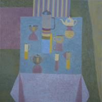 Blue Table by Mary  Mabbutt