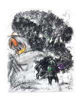 The Lion and the Ass Hunting by Marc Chagall