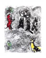 The Funeral of the Lioness by Marc Chagall