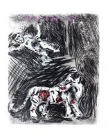 The Monkey and the Leopard  by Marc Chagall