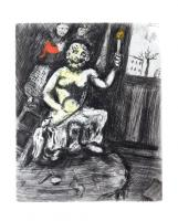 The Sculptor and the Statue of Jupiter by Marc Chagall