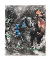 The Two Bulls and the Frog by Marc Chagall