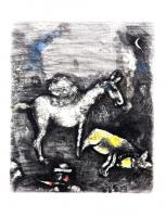 The Two Mules by Marc Chagall