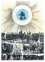 Avec le Sang il a Signé Son Nom Sur le Mur by Max Ernst