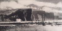 Cliffs of Inishmore by Norman Ackroyd CBE, RA, ARCA, RE, MA