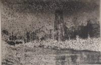 Fountains Abbey  by Norman Ackroyd CBE, RA, ARCA, RE, MA