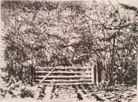 January Afternoon - Wiltshire by Norman Ackroyd CBE, RA, ARCA, RE, MA