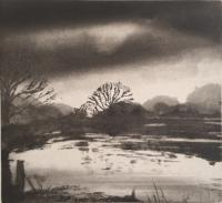 Windrush at Taynton - Oxfordshire by Norman Ackroyd CBE, RA, ARCA, RE, MA