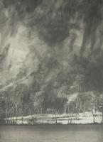 Snowstorm at Cartmel Fell (1996) by Norman Ackroyd CBE, RA, ARCA, RE, MA