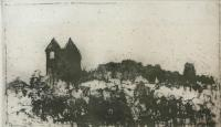 Anglesey - The Pearl Engine House by Norman Ackroyd CBE, RA, ARCA, RE, MA