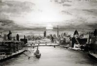 Sunset From Tower Bridge by Norman Ackroyd CBE, RA, ARCA, RE, MA