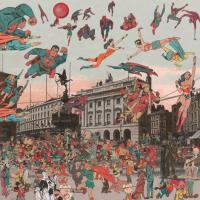 Piccadilly Circus - The Covention of Comic Book Characters by Sir Peter Blake