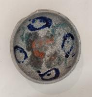 White Raku Bowl  by Paul  Berman