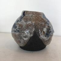 Wide Crackle Pot  by Paul  Berman