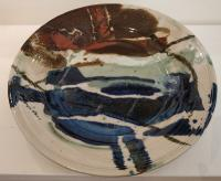 Abstract large Plate by Peter Lee