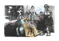 Self Portrait with Grandchildren by Paula Rego