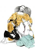 Unhappy Courtship by Paula Rego