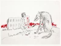 Girl With Dogs II by Sir Quentin Blake CBE RDI HRWS
