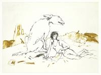 Girl With Dogs III by Sir Quentin Blake CBE RDI HRWS
