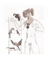 Women With Birds IV  by Sir Quentin Blake CBE RDI HRWS