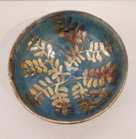 Blue leaf Bowl  by Sue Blagden