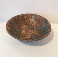 Large stoneware bowl - turquoise glaze by Sue Blagden