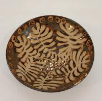 Brown leaf bowl  by Sue Blagden