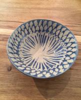 Small Blue Patterned Bowl by Sue Blagden