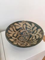 Stoneware Clay Green Leaf Bowl by Sue Blagden