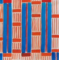 Design 32 - Red and Blue Stripes by Sonia Delauney