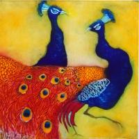 Golden Peacocks by Susie Perring