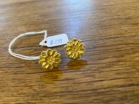 Gold Leaf Flower Studs  by Steve Whitford