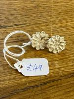 Silver Flower Earrings by Steve Whitford